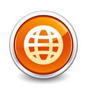 button orange globe